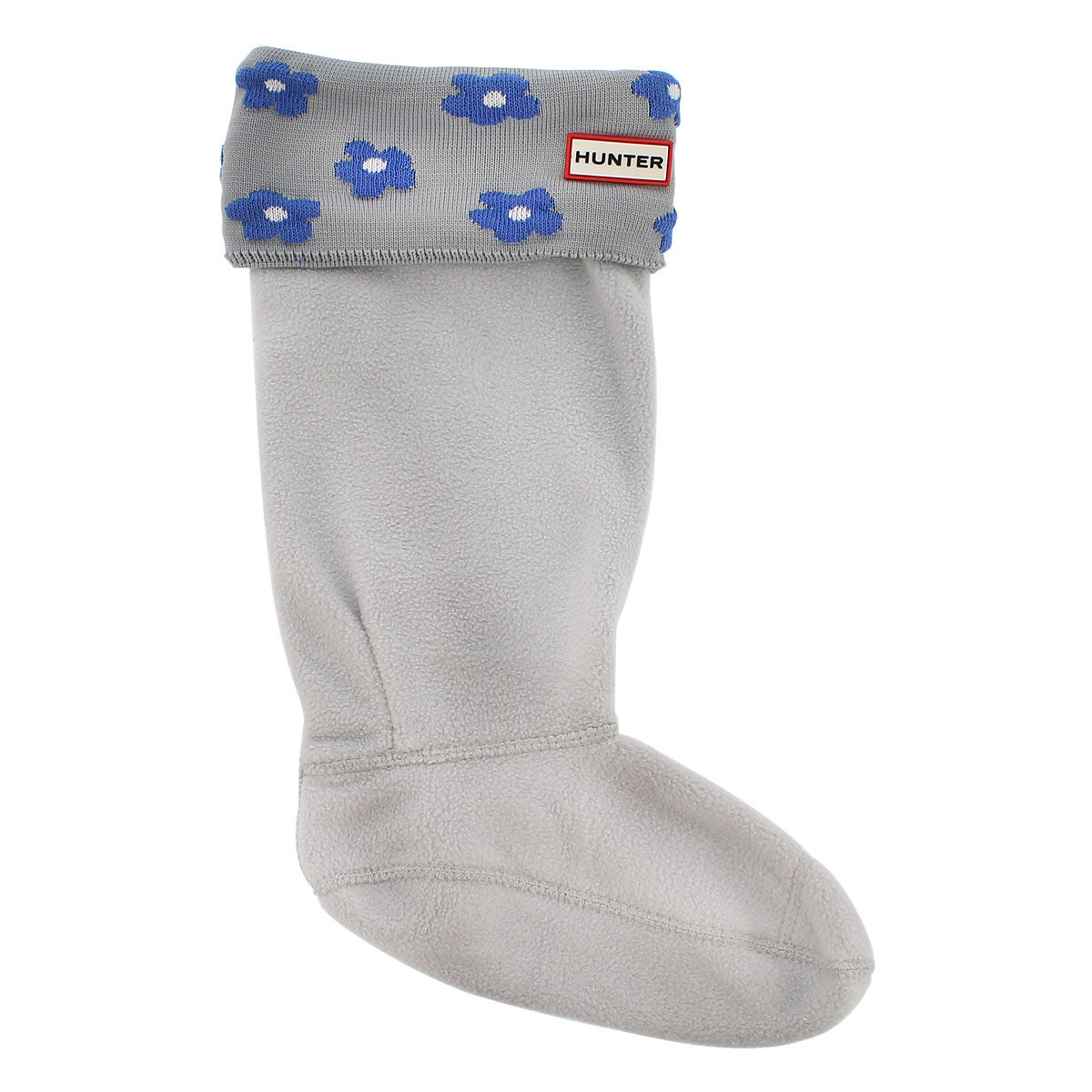 Lds Floral Cuff blue boot sock