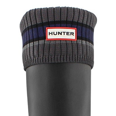Hunter Women's BUOY STRIPE grey/black boot socks
