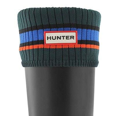 Hunter Women's BUOY STRIPE green/blue/red boot socks
