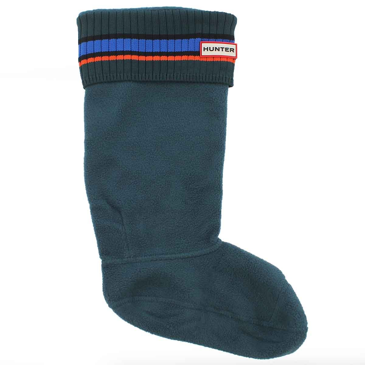 Lds Buoy Stripe grn/blu/red boot sock