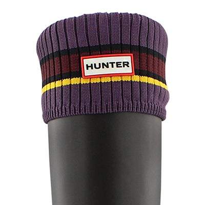 Hunter Chaussons BUOY STRIPE, violet/rouge/jaune, femmes
