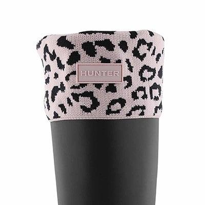 Lds Snow Leopard Cuff hze pnk boot sock