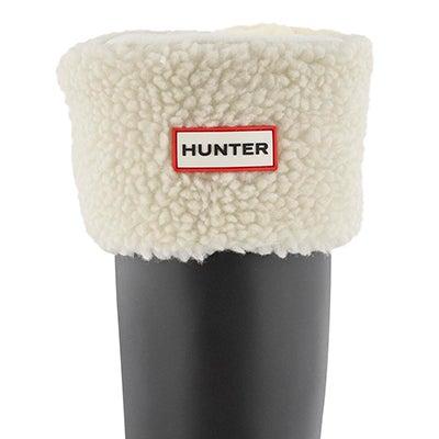 Lds Sheepy Fleece Cuff nat wht boot sock