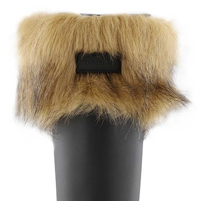 Lds Faux Fur Cuff tawny boot sock