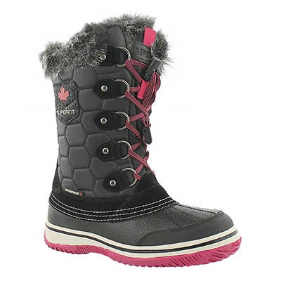 Superfit Girls' UBIKA blk/fuschia waterproof winter boots