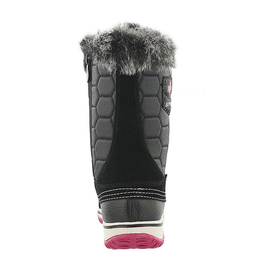 Grls Ubika blk/fuschia wtpf winter boot