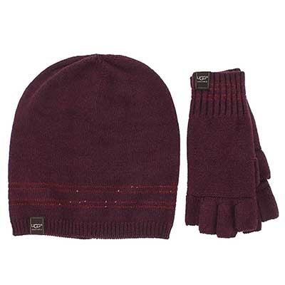 Women's UG1951 hat & glove box set- aster heather