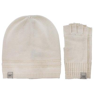 Lds hat & glove box set- cream
