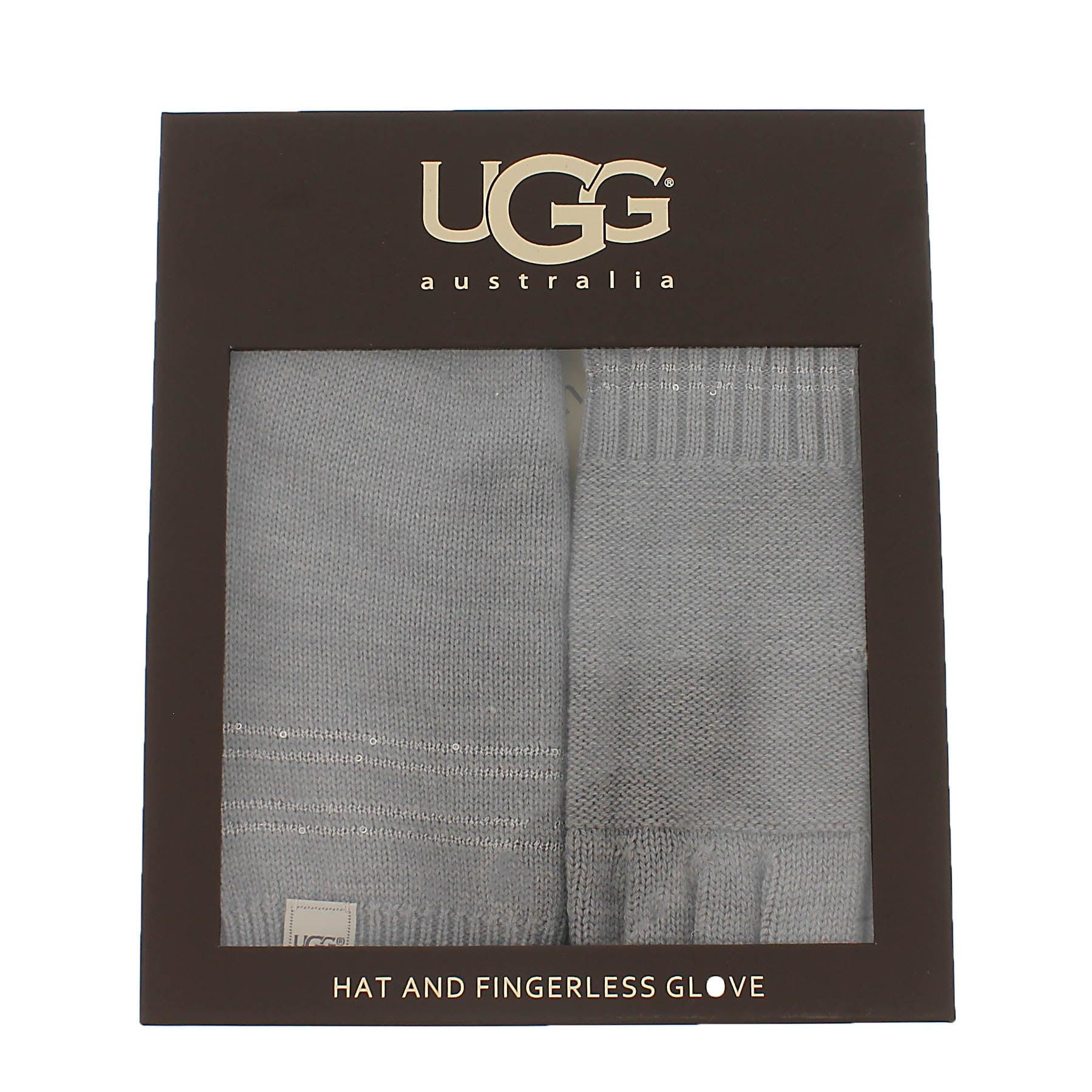 Lds hat & glove box set- grey heather