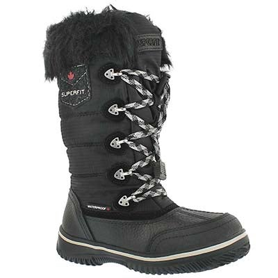 Grls Ukina blk wtrpf winter boot