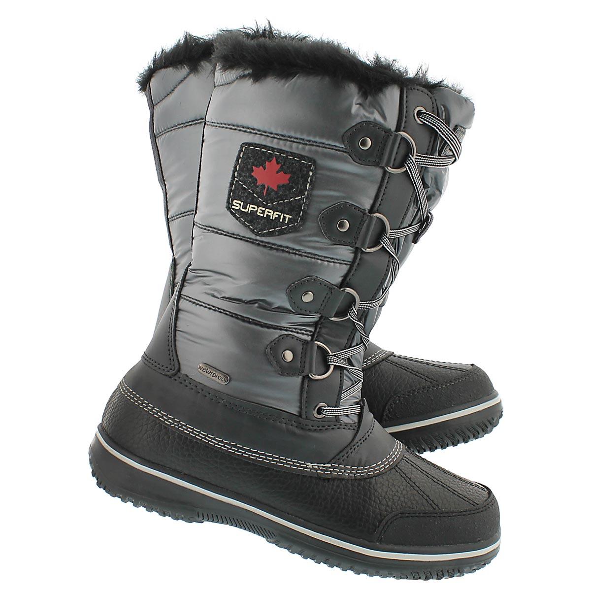 Lds Ulla blk/pwtr wtrpf winter boot