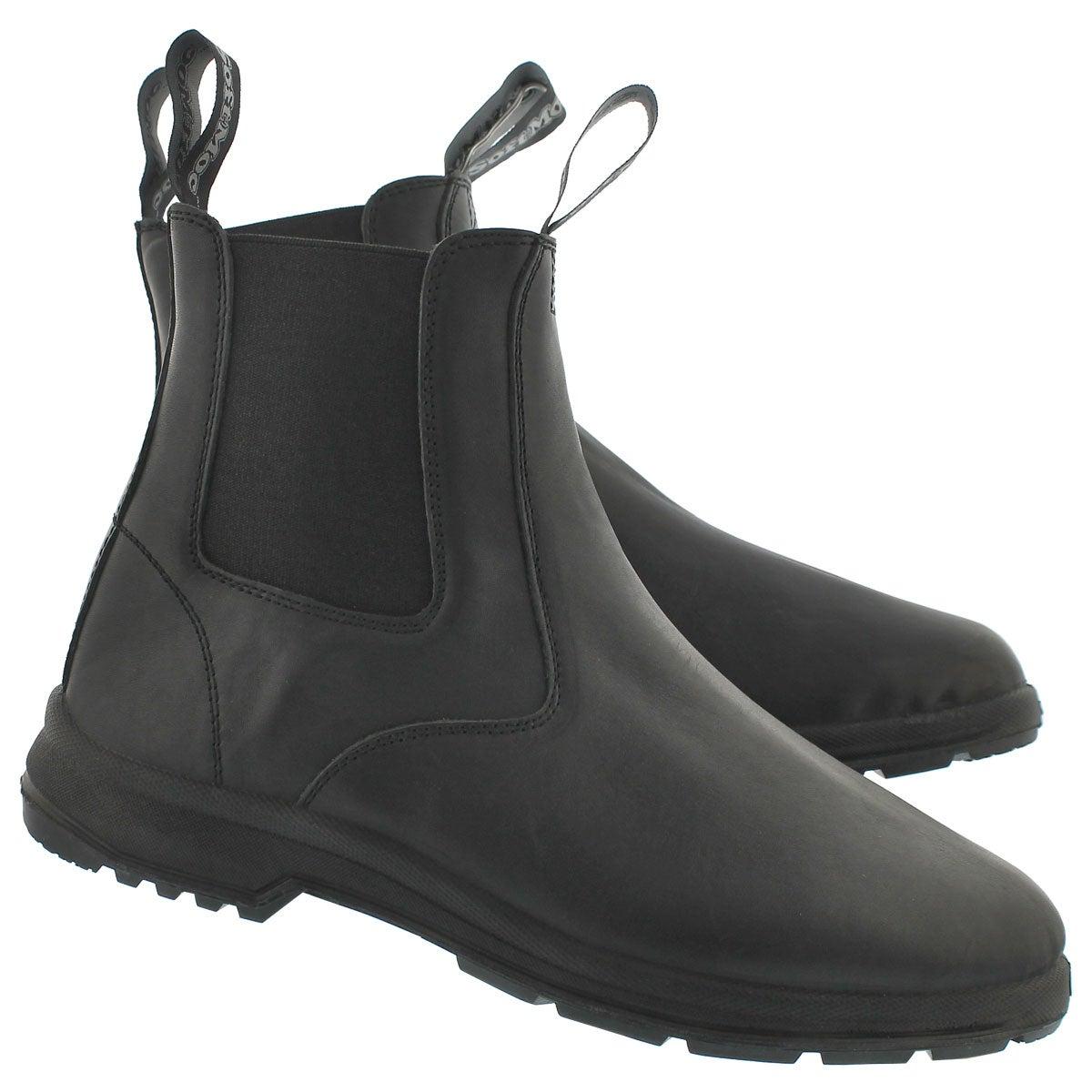 Lds Uluru black smooth chelsea boot