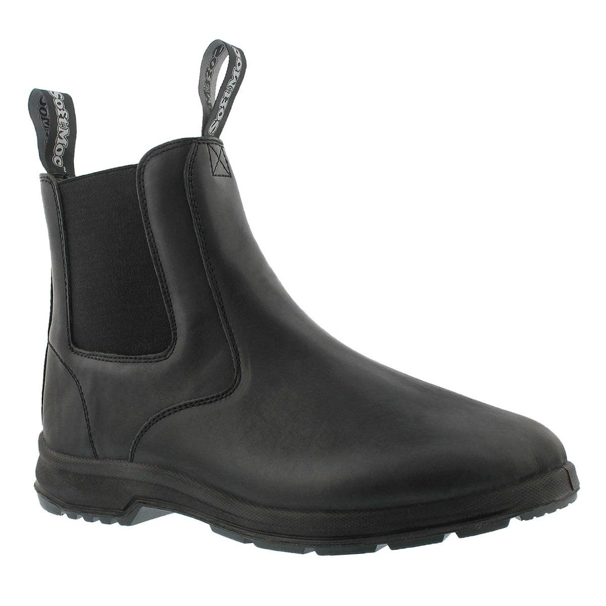 Men's ULURU black smooth chelsea boots