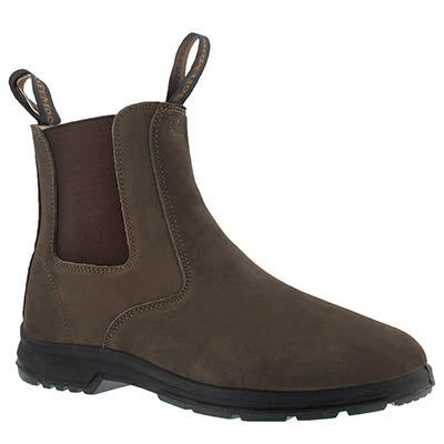 Mns Uluru brown crzy hrs chelsea boot