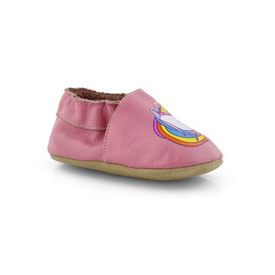 Infs-g Unicorn pnk slipper bootie