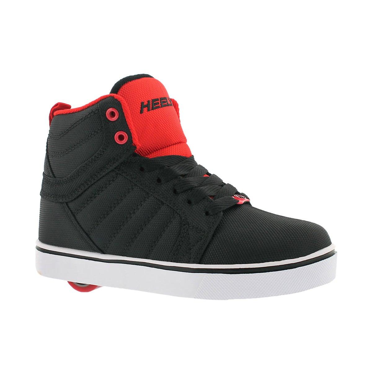 Boys' UPTOWN black/red hi top skate sneakers