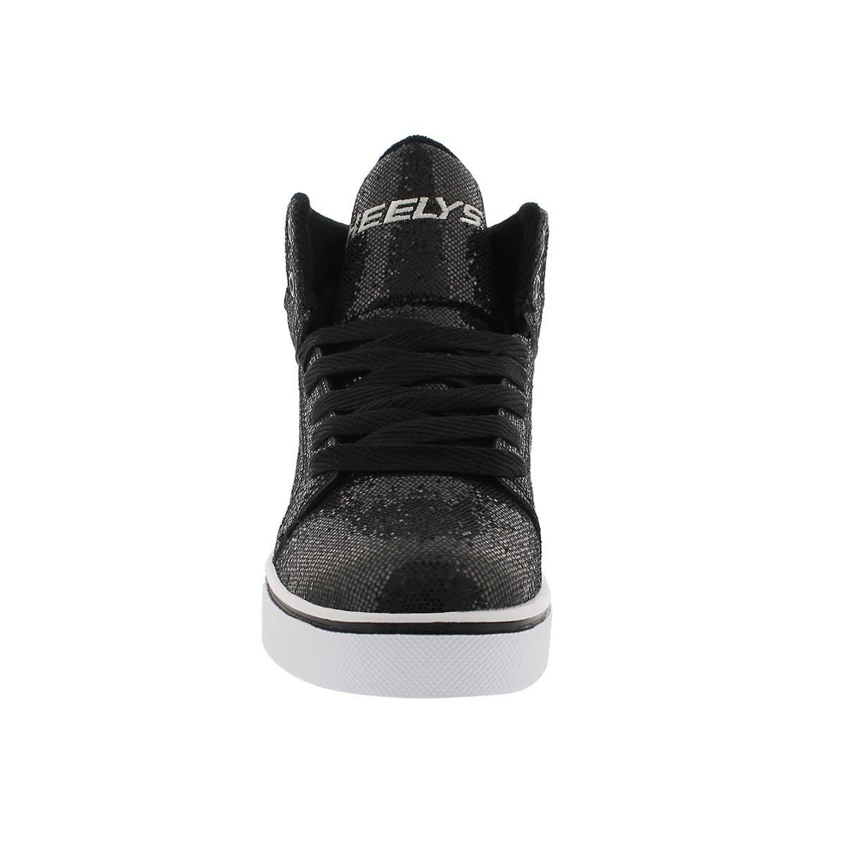 Grls Uptown black disco hi skate sneaker