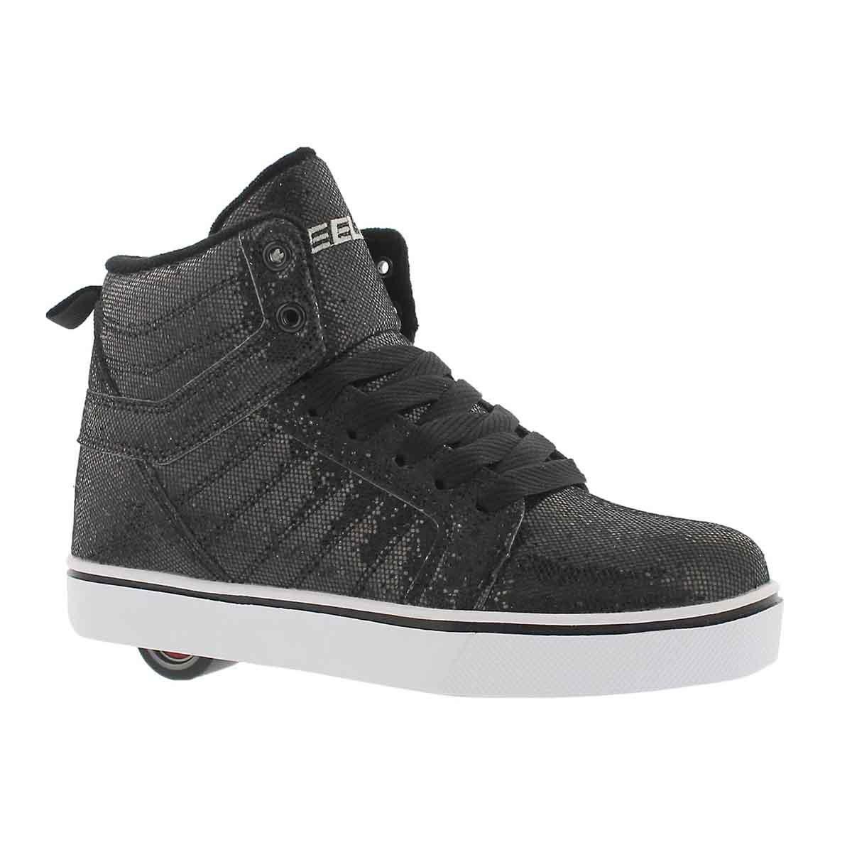 Girls' UPTOWN black disco hi skate sneakers