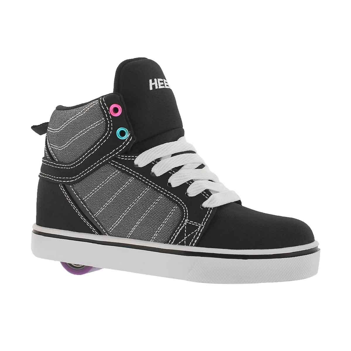 Girls' UPTOWN blk/sprkle/mlti hi skt sneakers