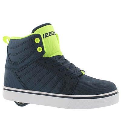 Bys Uptown nvy/yllw hi top skate sneaker
