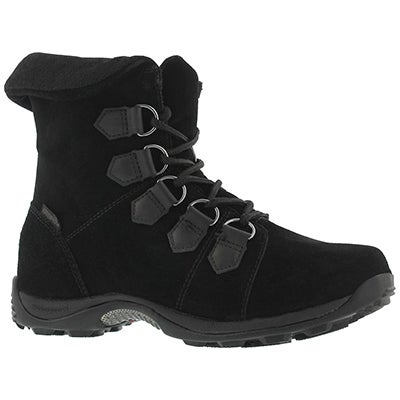 Lds Verbier blk wtpf lace up wntr boot