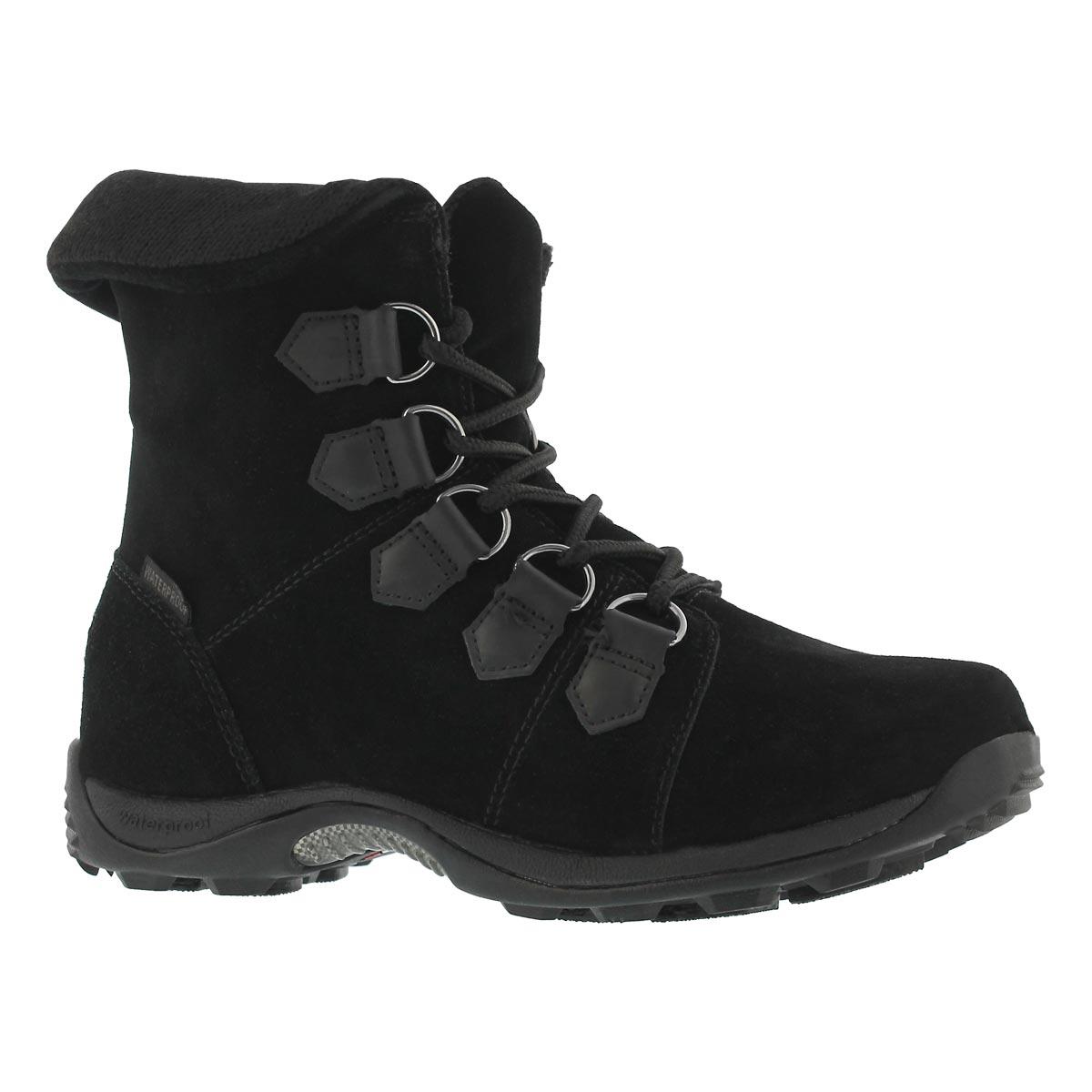 Women's VERVIER bk waterproof lace up winter boots