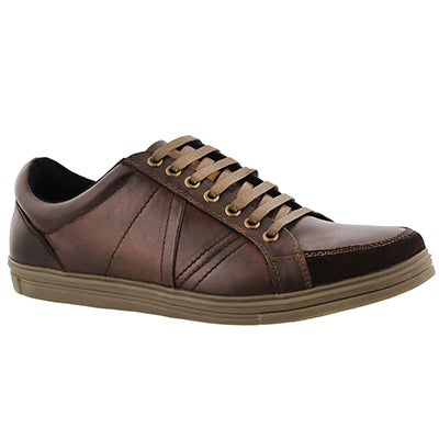 SoftMoc Men's VAGABOND brown leather sneakers