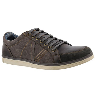 Mns Vagabond grey canvas/leather sneaker