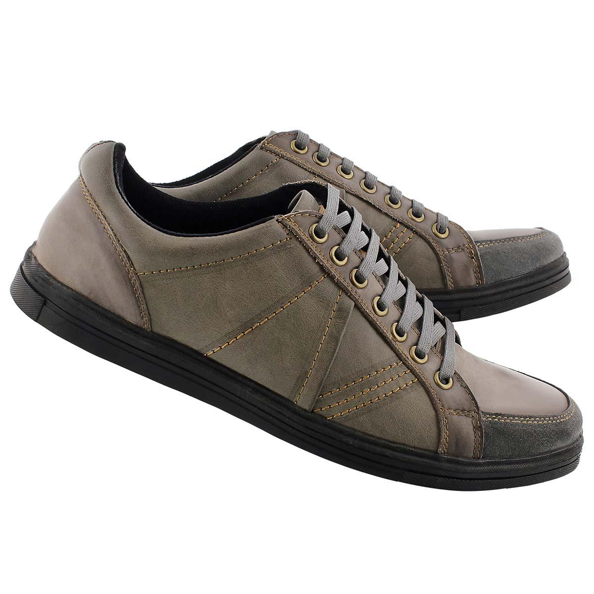 Mns Vagabond grey/ blk leather sneaker