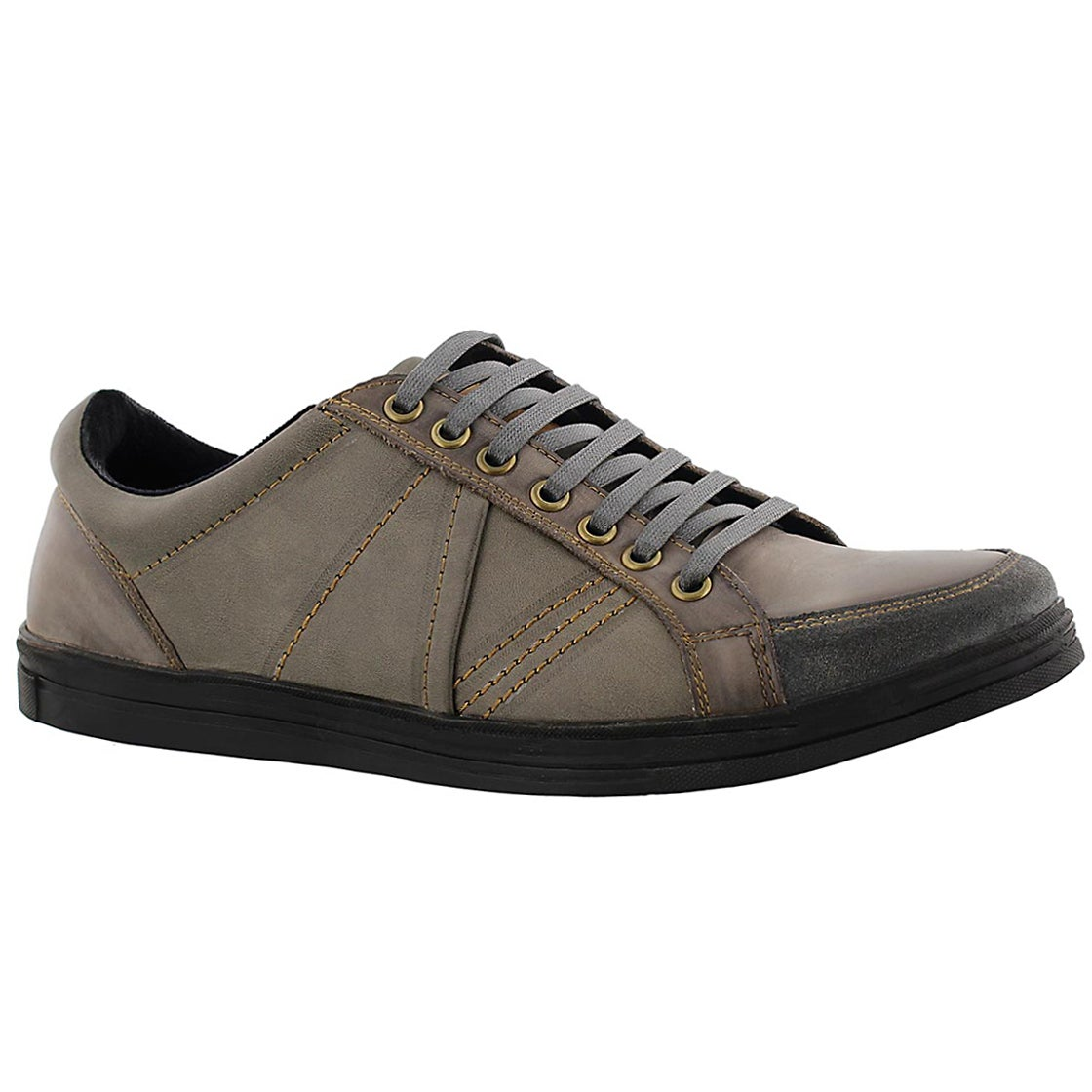 Mns Vagabond grey/ blk leather sneaker
