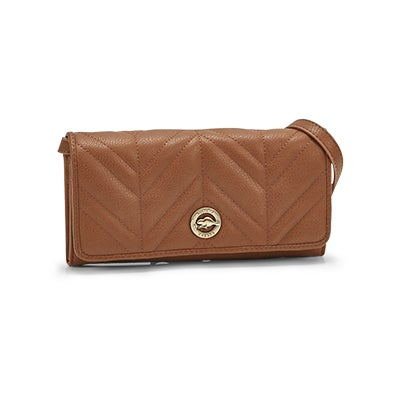 Lds Valley Collection cognac wristlet