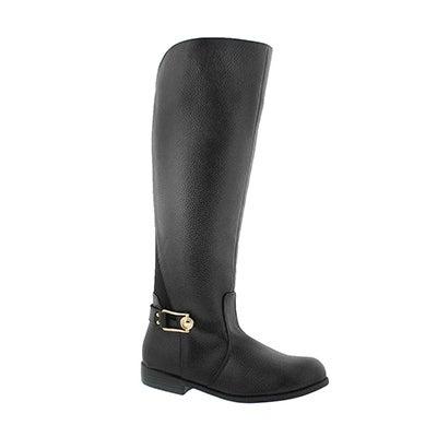 Grls Vanessa blk knee high riding boot