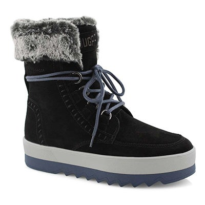 Lds Vanetta blk lace up wtpf winter boot