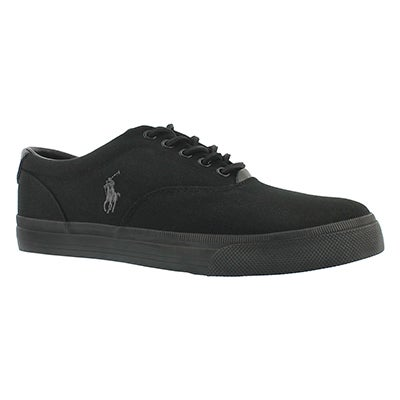 Polo Men's VAUGHN black/black canvas/leather sneakers