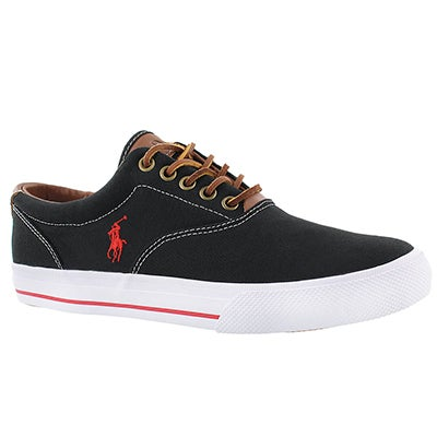 Polo Men's VAUGHN black canvas/leather sneakers