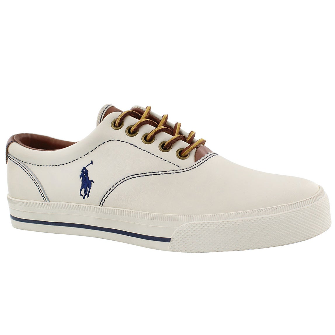 ralph white leather sneakers