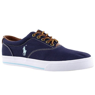 Polo Men's VAUGHN navy canvas/leather CVO sneakers