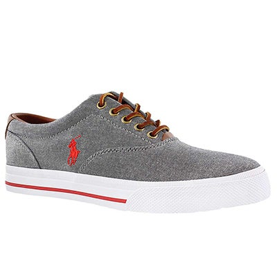 Polo Men's VAUGHN grey chambray/leather CVO sneakers