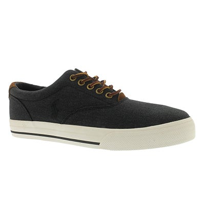 Polo Men's VAUGHN black heather ripstop sneakers