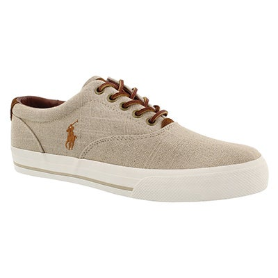 Polo Men's VAUGHN natural linen fashion sneakers