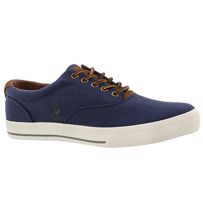 Mns Vaughn navy linen fashion sneaker
