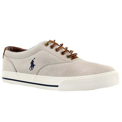 Polo Men's VAUGHN stone canvas/suede sneakers