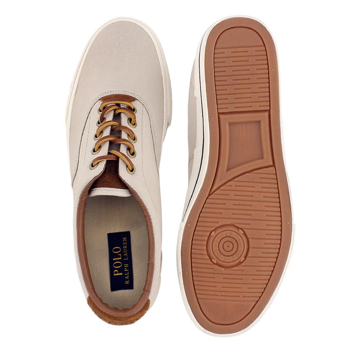 Mns Vaughn stone canvas/suede sneaker