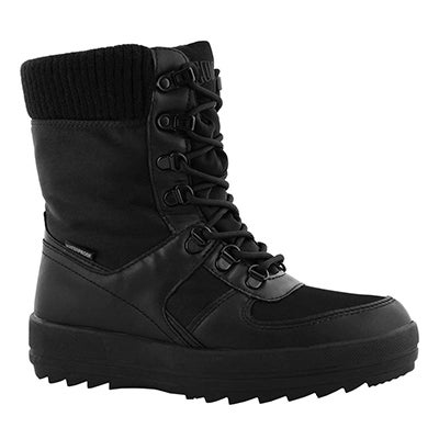 Lds Vergio blk/blk wp lace up wntr boot