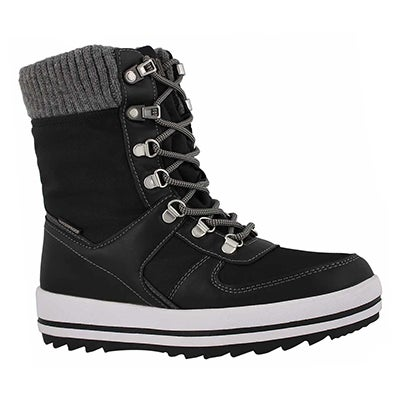 Lds Vergio blk wtpf lace up winter boot