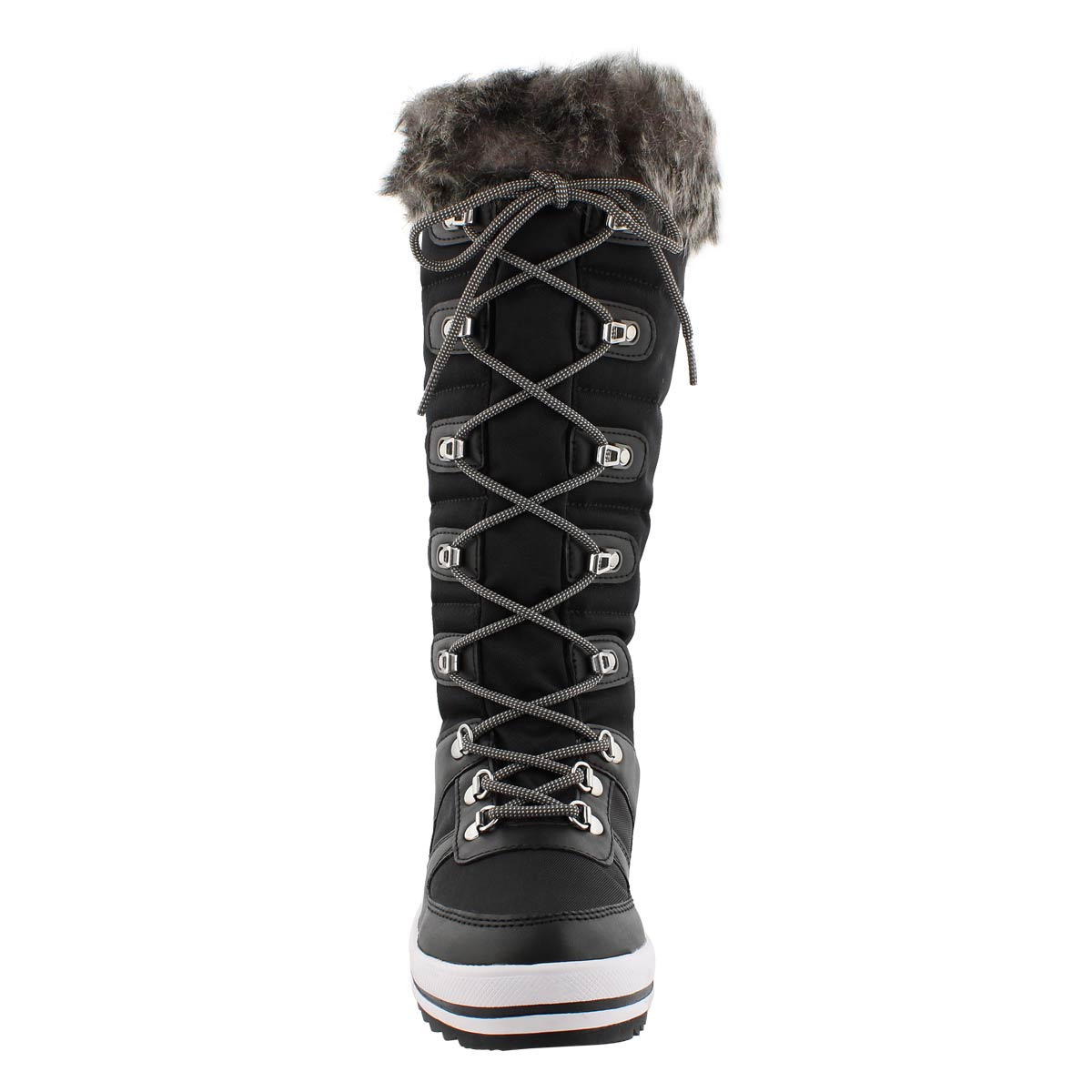 Lds Vesta blk wp lace up tall wntr boot