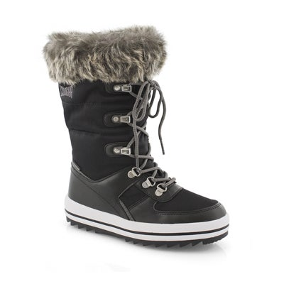 Grls Vesta G blk wtpf pullon winter boot