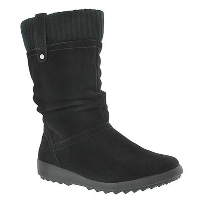 Lds Vienna blk sued wtpf winter boot