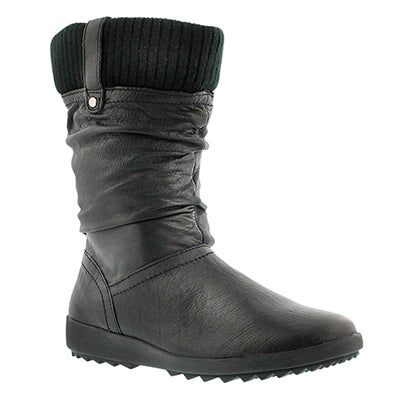 Lds Vienna 5 blk lthr wtpf winter boot