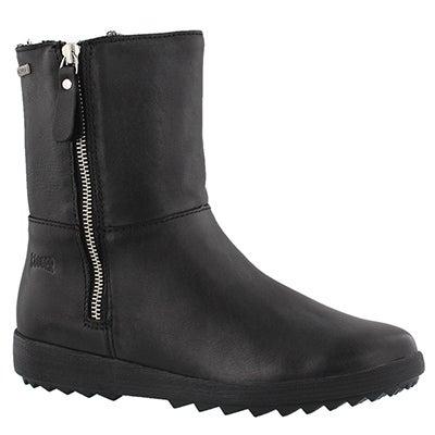 Lds Vito blk lthr zip up wtpf boot